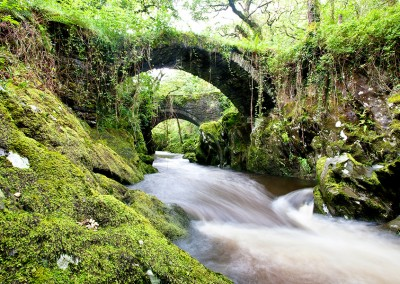 Roman bridge over the River Machno in Snowdonia