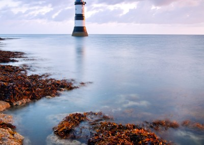 Penmon lighthouse at dawn on the Isle Of Anglesey