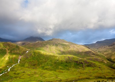 Light on the hills in the Snowdonia National Park, North Wales