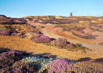 Amlwch Copper Mine on a bright summers day