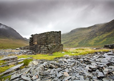 The derelict Cwmorthin Slate Mine in North Wales