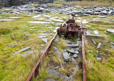 The Derelict Rhosydd Slate Mine in North Wales