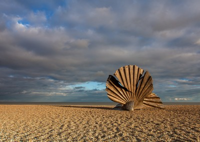 The Scallop Shell on the beach at Aldeburgh, Suffolk Coast