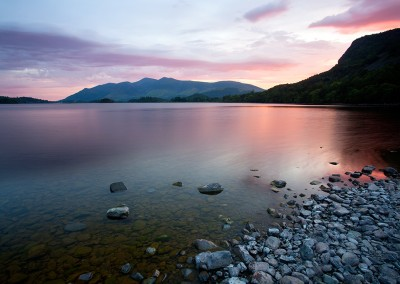 A very early 2.30 am alarm clock was required to capture this view at Derwent Water on a June morning