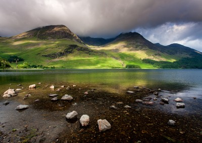 Stormly light above Lake Buttermere
