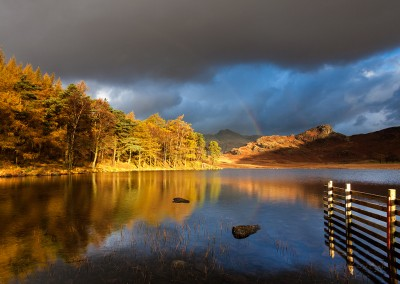 Autumn rainbow at Blea Tarn