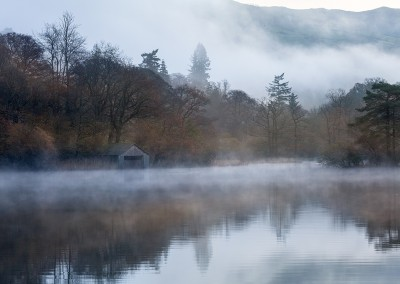 Rydal boat House in the mist