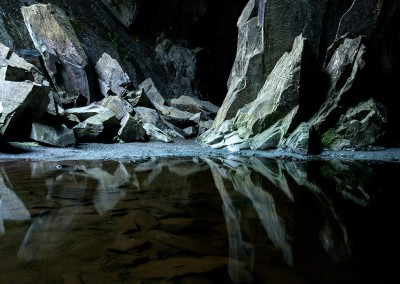 Cathedral Cave an old disused quarry in the Lake District
