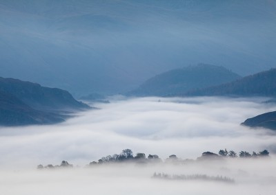 Early morning mist shot from the viewpoint at Latrigg