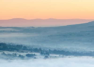 Morning colours seen from the top of Latrigg in the Lake District