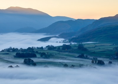 Morning mist photographed from Latrigg