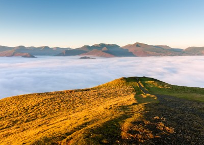 Latrigg bathed in morning light, captured Nov 15
