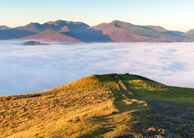 Latrigg bathed in early morning sunlight