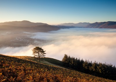 The view from Latrigg in the Lake District
