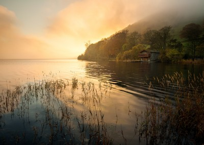Sunset at Ullswater with the Duke of Portland Boathouse