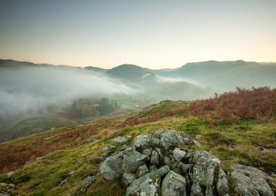 Last light viewed from Hallin Fell