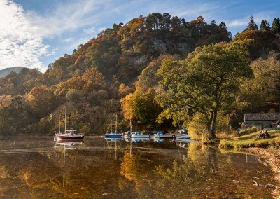 Glenridding on a lovely autumnal day at Ullswater in the Lake District