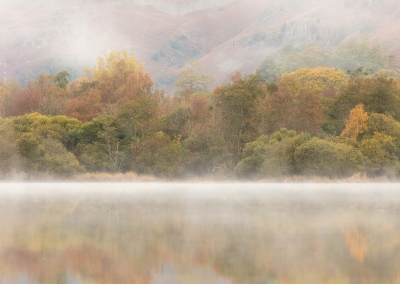 Morning colour from Elterwater in the Lake District