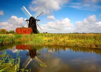 Herringfleet smock drainage mill in Suffolk