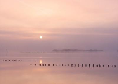 Blythburgh at sunrise in Suffolk