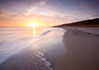 Sunrise at Waxham beach on the Norfolk Coast