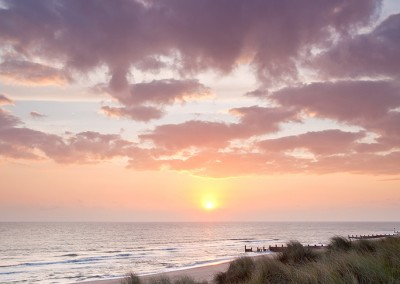 Horsey Beach at sunrise on the Norfolk Coast