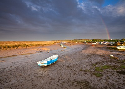 Morston Quay during a passing storm on the North Norfolk Coast