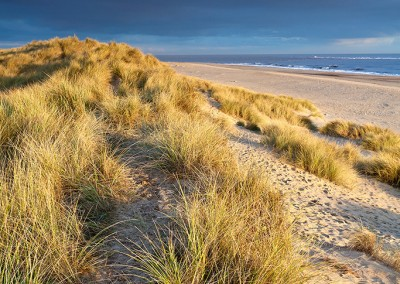 Winterton Dunes at first light on the Norfolk Coast