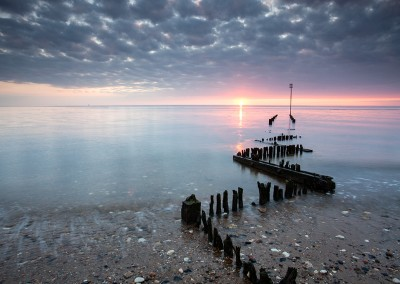 Heacham at sunset on the North Norfok Coast