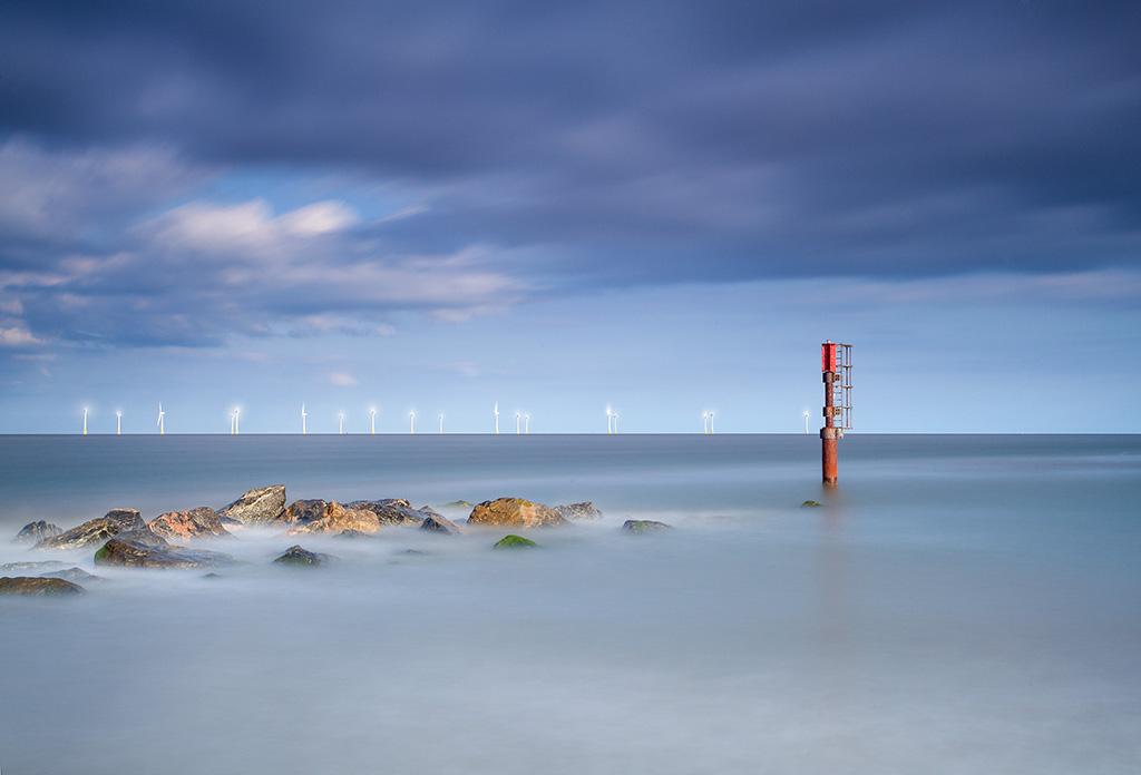Caister beach on the Norfolk Coast