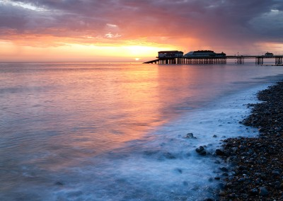 Cromer Pier at sunrise on the North Norfolk Coast