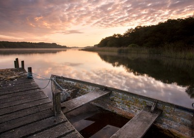 Ormesby Broard at dawn on the Norfolk Broads