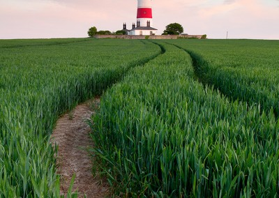 Happisburgh lighthouse on the Norfolk Coast
