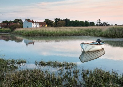 Brancaster Staithe at last light on the Norfolk Broads