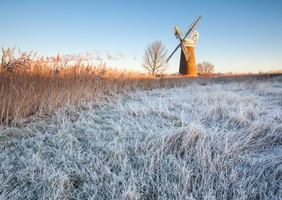 Hardley Mill on a frosty morning