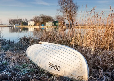 The River Thurne on a frosty morning on the Norfolk Broads