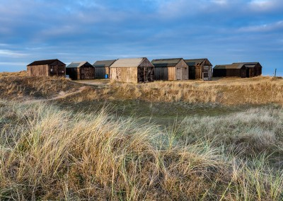 Old fisherman's huts at Winterton on the Norfolk Coast