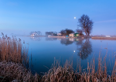 The River Thurne by moonlight on the Norfolk Broads