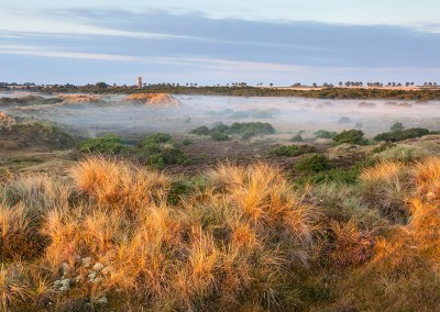 Winterton on a misty summers morning