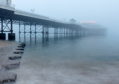 Cromer Pier in the fog on the Norfolk Coast