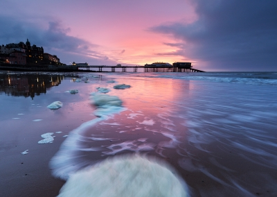 Cromer Pier at sunset on the Norfolk Coast