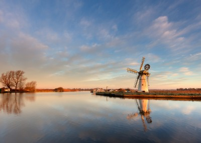 Thurne Windmill At Sunrise