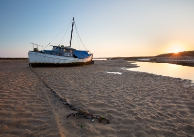 Burnham Overy Staithe at dawn on the North Norfolk Coast