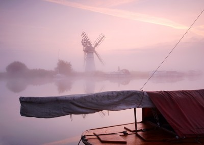 Thurne Mill at Sunrise on the Norfolk Broads