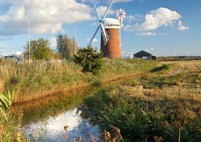 Horsey windmill photographed on a the Norfolk Broads