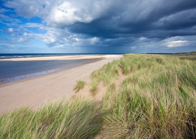 The sand dunes between Burnham Overy Beach and Holkham on the North Norfolk Coast
