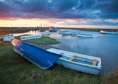 Sunset at Morston on the North Norfolk Coast