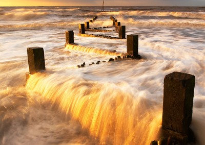 Hunstanton Groynes taken at sunset on the North Norfolk Coast
