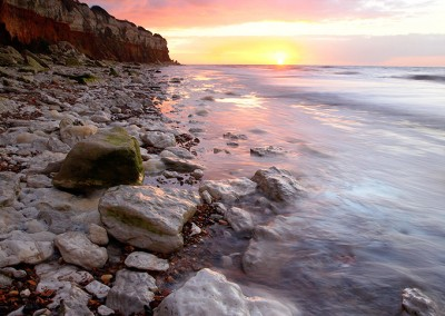 Old Hunstanton at sunset on the North Norfolk Coast