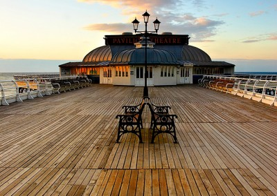 Cromer Pier at sunset on the North Norfolk Coast